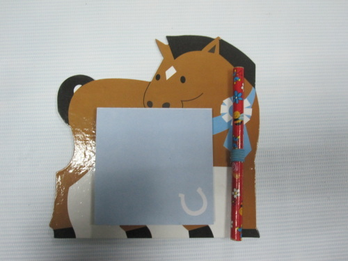 carton self-stickers/memopad with magnet with pen