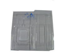 any color's flocking tray for cosmetic packaging