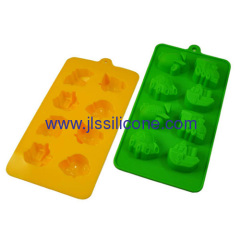 8 cavities car shaped silicone chocolate ice maker tray