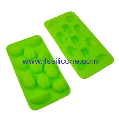 11 cavities silicone pudding or chocolate ice maker tray