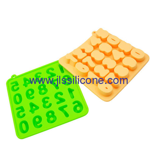 Silicone chocolate pudding ice maker tray with figure 0 to 9