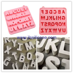 Alphabet silicone chocolate ice maker molds