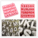 26 letters shaped silicone ice maker molds or chocolate mold