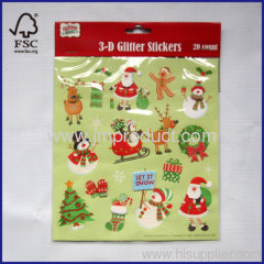 3D glitter stickers 20 count