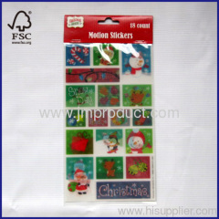 18 count motion stickers xmas designs