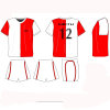 High Performance Sublimated Soccer Jersey And Short, Custom College Football Jerseys