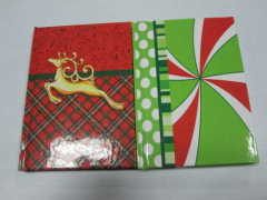 A6 2 subject college ruled hardbound notepad/notebook for Christmas