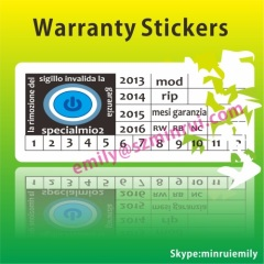 Warranty Destructible Vinyl Labels