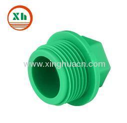 PP-R plastic fittings thread plug