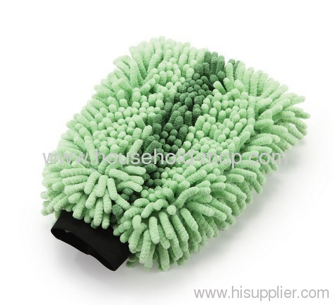 Car washing microfiber mitt