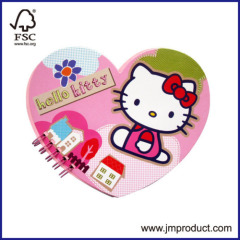 love heart note pad