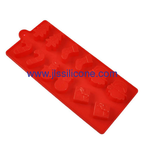 hot red silicone chocolate candy molds and ice cube tray