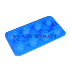 8 cavities silicone ice cube tray in easter egg shape