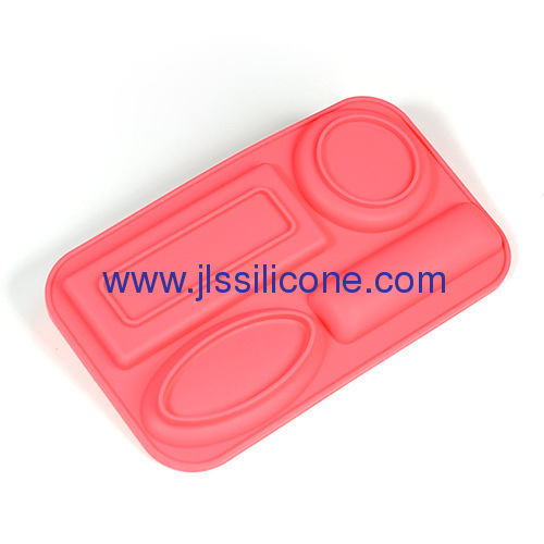 silicone soap or chocolate molds with 4 cavities