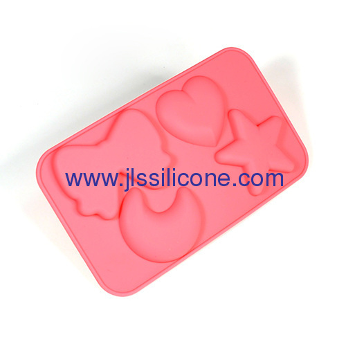 moon and star shaped silicone ice cube tray