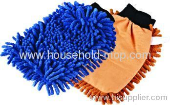 microfiber car cleaning glove/sponges