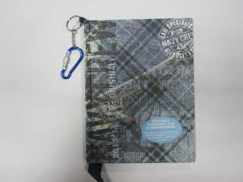 A5 hardcover hardbound notebook/agenda/planner with hanging drop