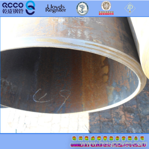 Beveled ends of ASTM A106 pipe