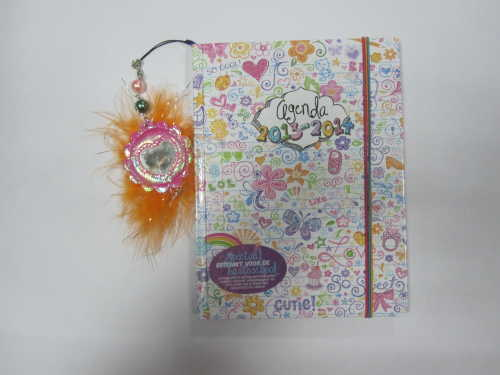 A5 hardcover hardbound agenda/planner/diary with cute hanging drops