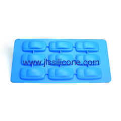 car shaped silcione ice cube tray with 9 cavities