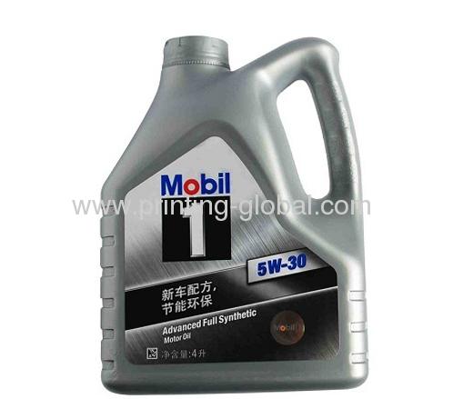 Hdpe heat transfer printing film of motor oil bottle from for Motor oil plastic bottle manufacturer