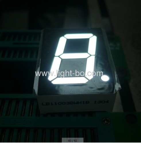 Pure White 1-inch common anode single digit 7 segment led displays