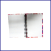 A6 college ruled hardcover spiral notebook