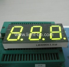 triple igit 0.8 inch 7 green 7 segment led display