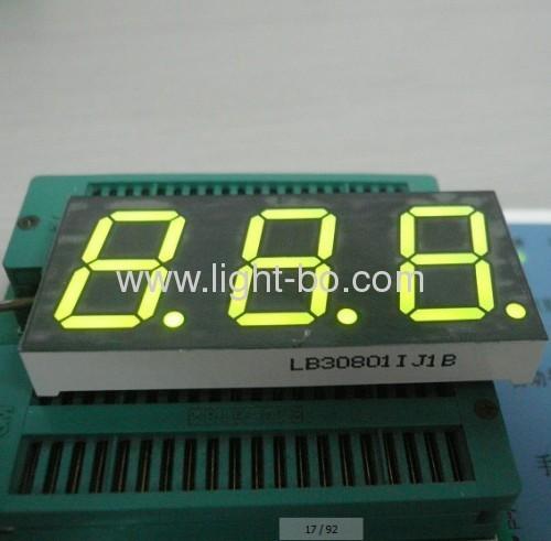 Super Bright yellow triple-digit 0.8 inch 7 segment led display