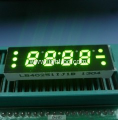 4 digit 0.25 inch green 7 segment led clock display