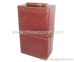 Multifunction hot sale PU leather red wine box