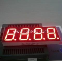 Cathode commun à quatre chiffres, à 0,8 pouces, rouge, 7 segments, affichage à LED