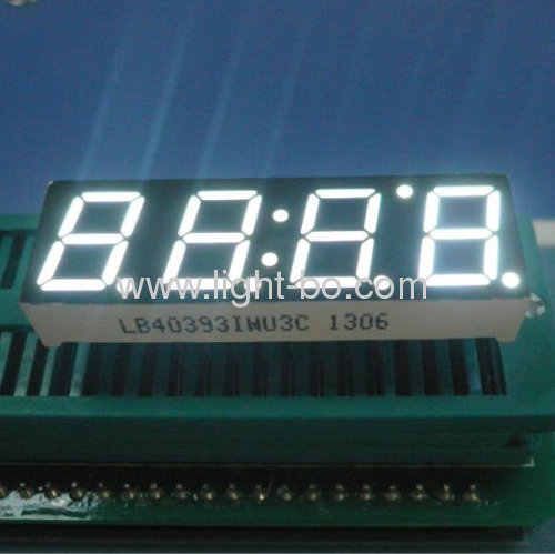 Super bright green common anode 0.39 inch 4 digit 7 segment led displays