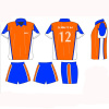 Soccer Set With Sublimation Print Shirts And Shorts With Collar, Team Football Uniforms