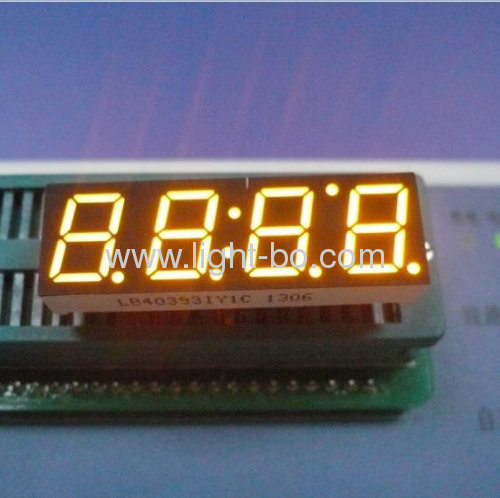 Ultra White 10mm 4 digit 7 segment led display for home appliance control panel