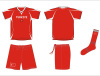 Sublimated Soccer Jersey Football Uniform Jerseys Shorts Socks 3 In1 Set Cool Dry