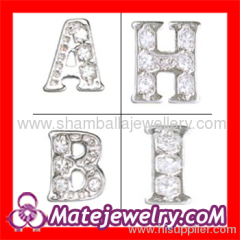 Floating locket letter charms