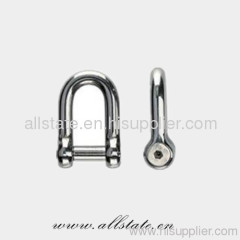 Stainless Steel Screw Pin Bow Shackle
