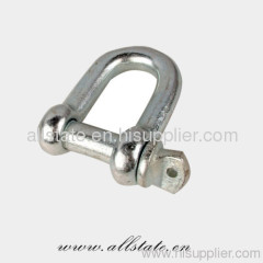 Bow shackles with safety bolt