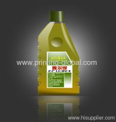 Hot Stamping Printing Film OF HDPE Motor Mixture Oil Bottles