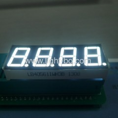 4 digit 14mm white 7 Segment LED Display; 4 digit white 14.2mm (0.56