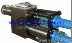 continuous screen changr-double piston hydraulic screen changer