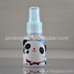 Heat transfer film for spray bottle