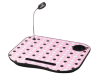 Portable Laptop Lap Cushion Tray Craft Desk Light can be removable