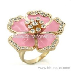 Fashion flower CZ diamond ring