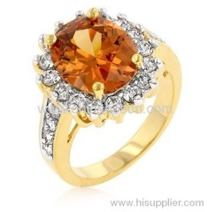 CZ topaz jewellery ring for women