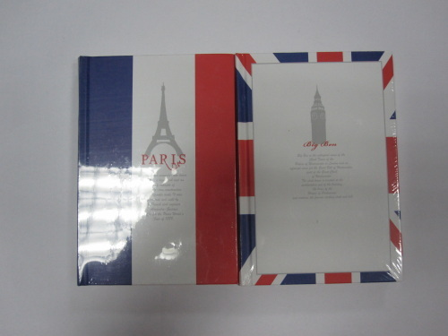 2 subject hardbound round back diary/notebook good quality