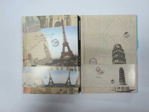 2 subject hardbound round back diary/notebook with lock