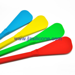Flat silicone kitchen spatula for cooking