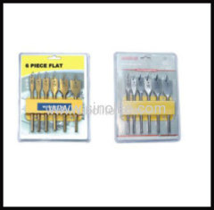 Wood flat spade bit set 6pcs sizes10-13-16-19-22-25mm length152mm